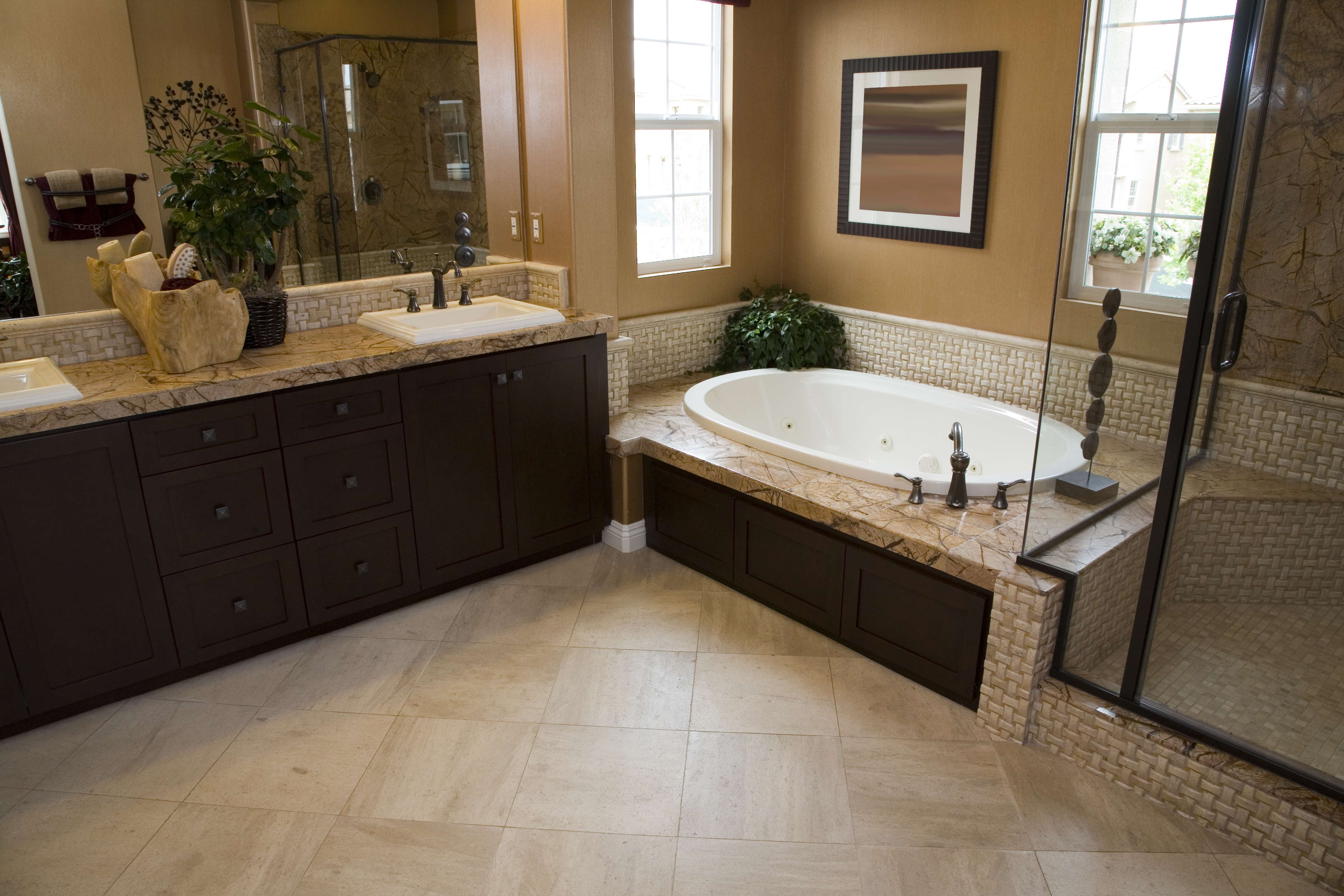 Stone tile flooring holliers flooring america lafayette la stone tile floor offers nearly limitless design potential dailygadgetfo Images